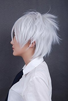 pelucas, cosplaza pelucas de cosplay del cortocircuito d..