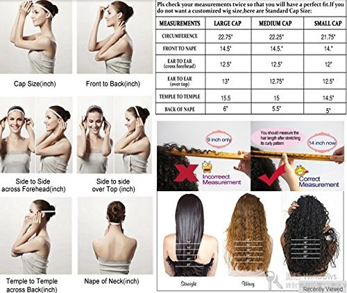 pelucas de cabello humano para mujeres 14inch 1b color negr