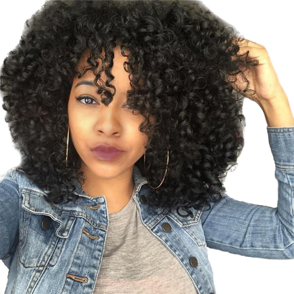 Pelucas De Cabello Rizado Sint 233 Tico Afro Para Mujer Negro