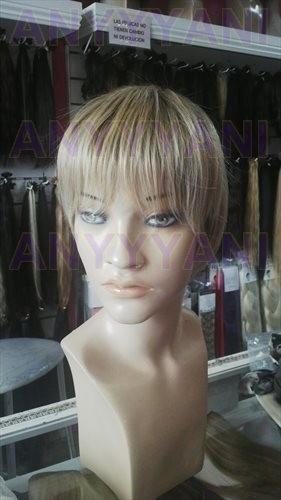 pelucas especiales de kanekalon simil pelo natural cortas