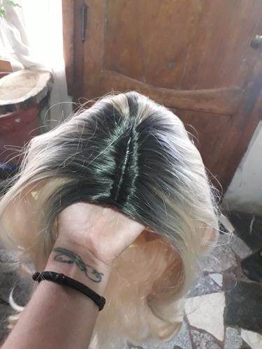 pelucas last front rubia falsa raiz oscura