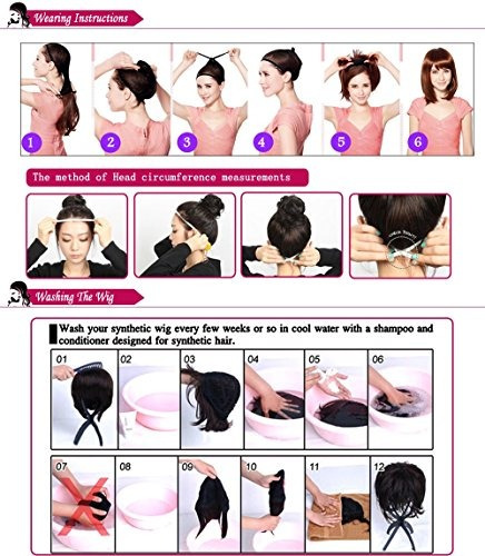 pelucas naturales 19 s-noilite rizado negro completo
