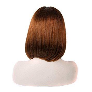 pelucas,prettybuy 14 corto bob peluca con flequillo cast..