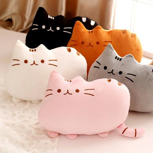 peluche almohada pusheen gato importado + bolsa de regalo