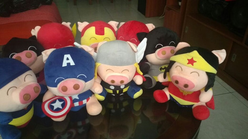 peluche chanchitos importados superheroes marvel spiderman