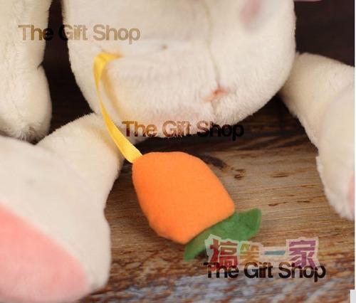 peluche conejo nici importado antialergico + bolsa regalo