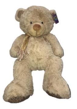 peluche de oso con moño gigante 80 cm para regalar