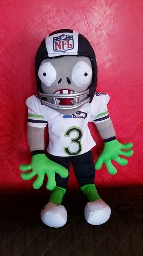 peluche de plantas vs zombis-zombi football americano