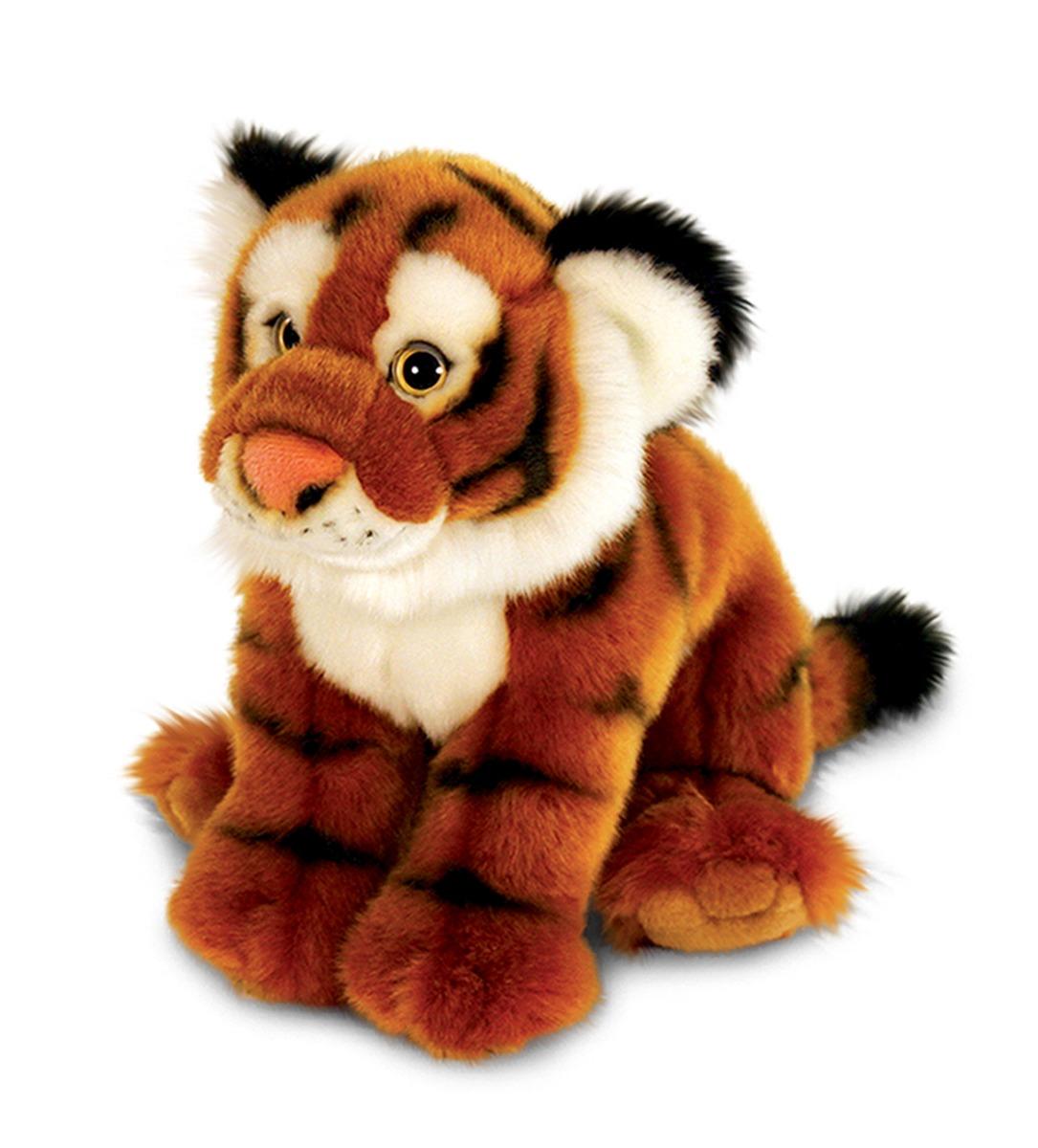 Peluche De Tigre 33cm Recostado Keel Toys Vida Silvestre