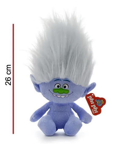 peluche de trolls diamantino 26cm phi phi toys original