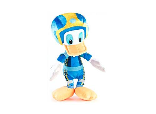 peluche donald 25 cms en traje de carrera mickey and the roa