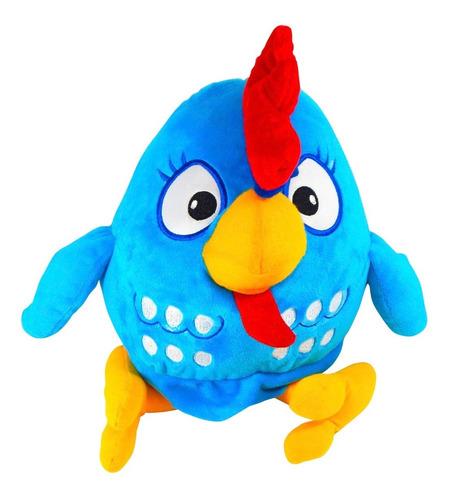 peluche gallina pintadita grande 34cm gallinita azul calidad