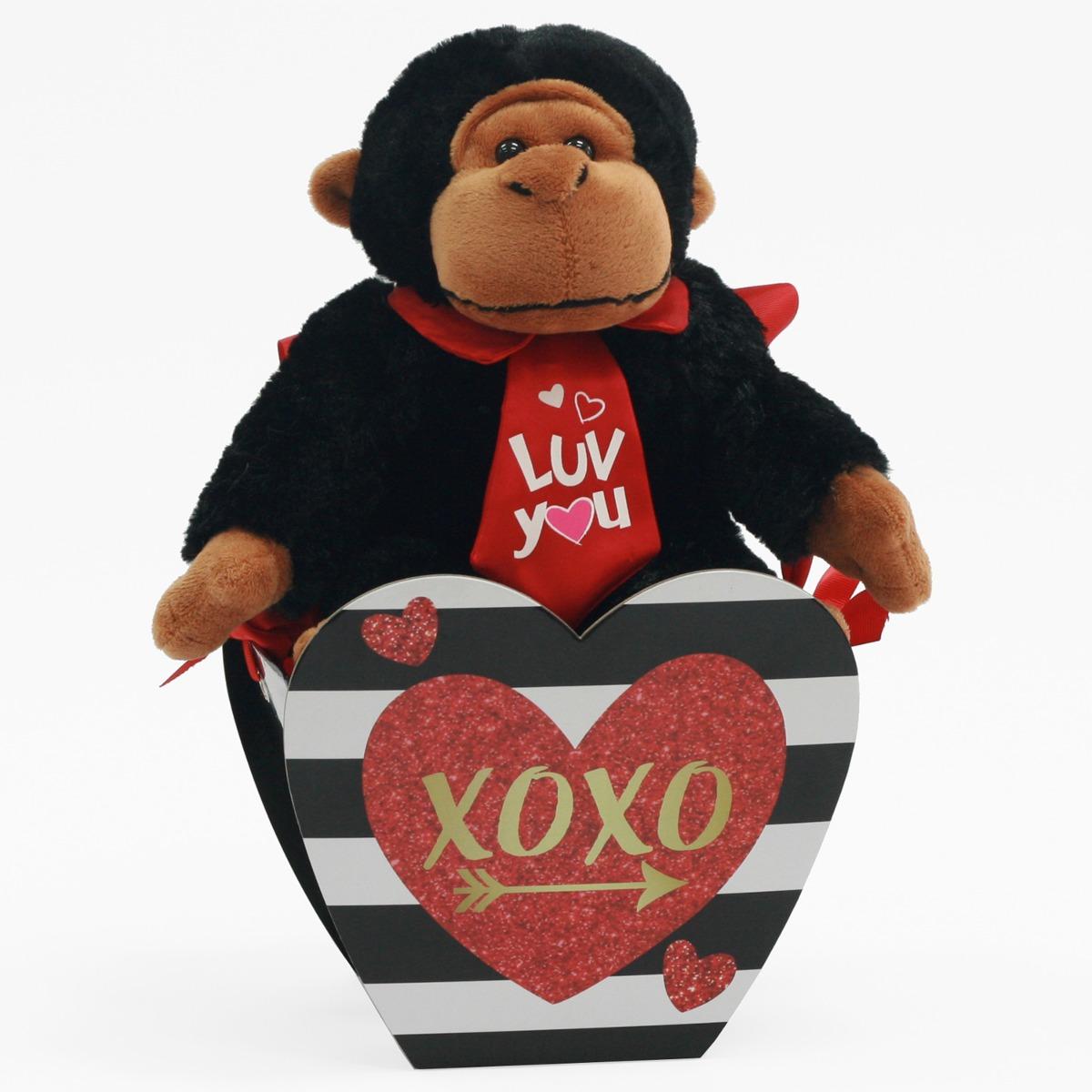 Peluche Gorila De 10\'\' Para El Día De San Valentín Color - $ 306.22 ...