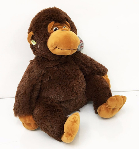 peluche gorila mono 45cm husai marron funny land