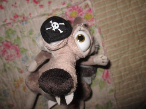 peluche la era del hielo 4 ardilla scrat pirata