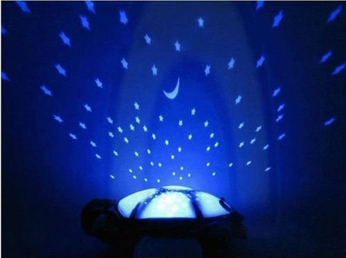 peluche lampara tortuga, proyector de estrellas