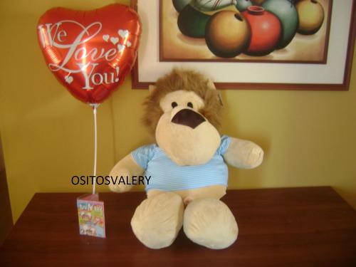 peluche leon grande +globo envio gratis