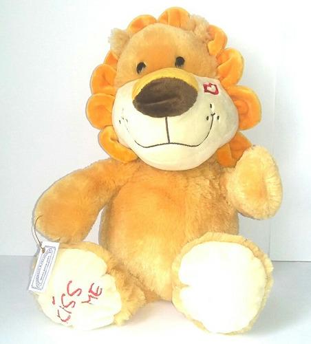 peluche leon kiss me 46cm woodytoys regalo navidad amor love