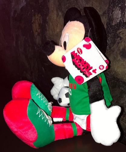 peluche mickey mouse futbol méxico 42 cm alto