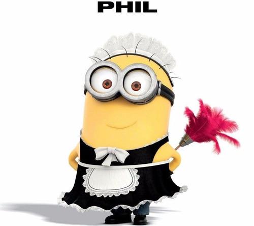 peluche miniom phil maid mi villano favorito 42cm