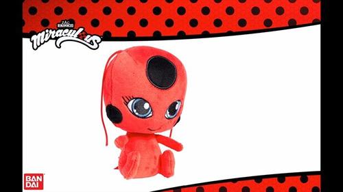 peluche miraculous tikki 15cm mascota ladybug bandai 2017
