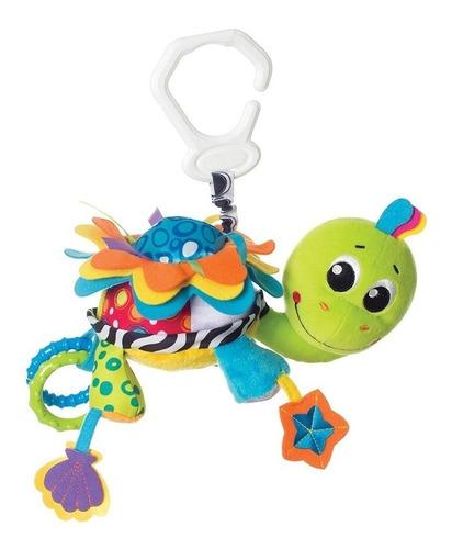 peluche mordillo colgante bebe flip the turtle playgro