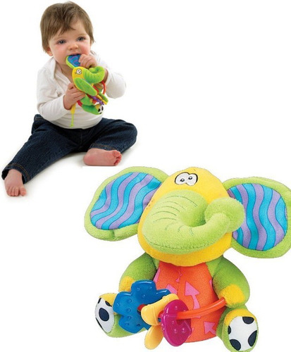 peluche mordillo elefante para bebe playmate playgro