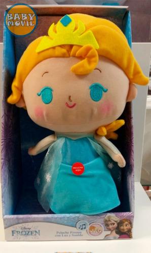 peluche muñeco elsa anna frozen 36cm con luz y sonido