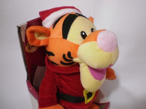peluche navideño de tigger baila y canta marca disney nuevo
