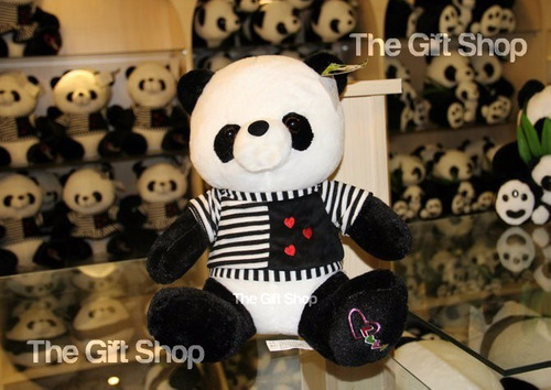 peluche oso panda antialérgico importado amor enamorado 75cm