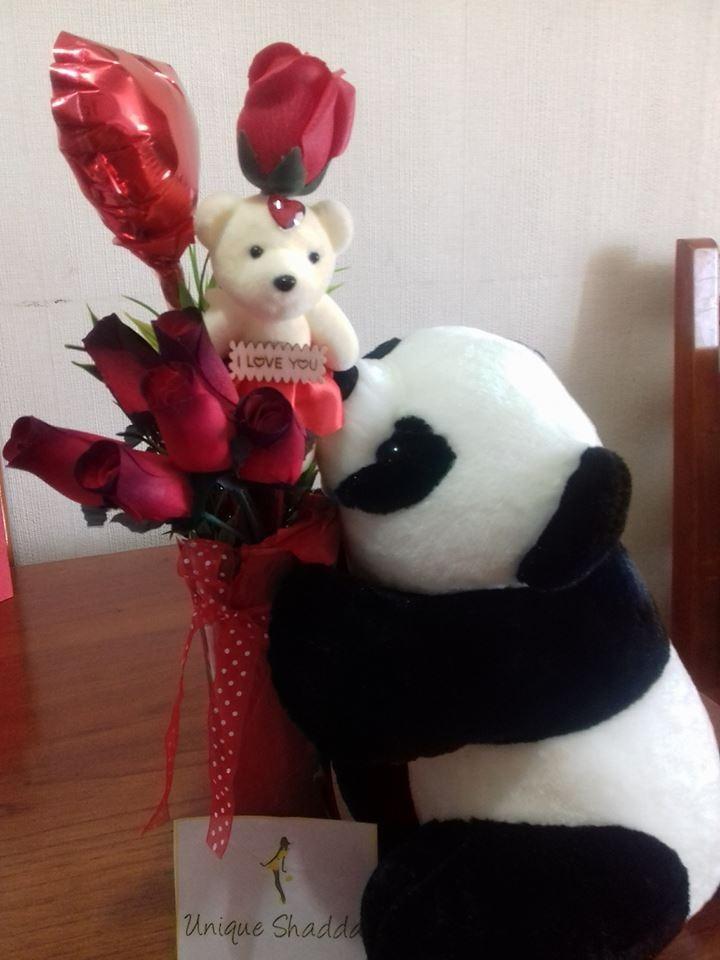 Peluche Oso Panda Arreglo Flores Amor Arreglosorpresaamor