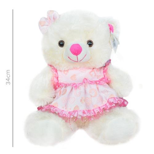 peluche oso sentado con vestido (2646)