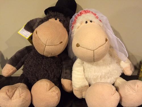 peluche ovejas novios- importado- tienda de osis