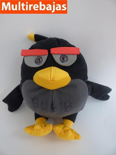 peluche pájaro de angry birds, bomb 23cm
