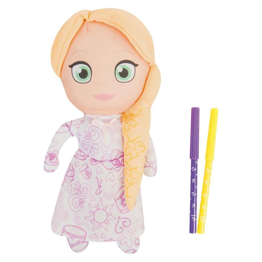 Peluche Para Colorear Princesas Disney Rapunzel Y Bella