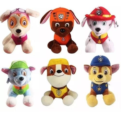 peluche paw patrol patrulla canina x 6 muñecos - la lucila