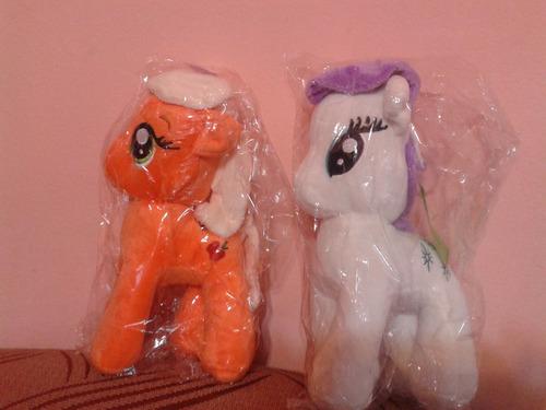 peluche pequeño pony musical color naranja
