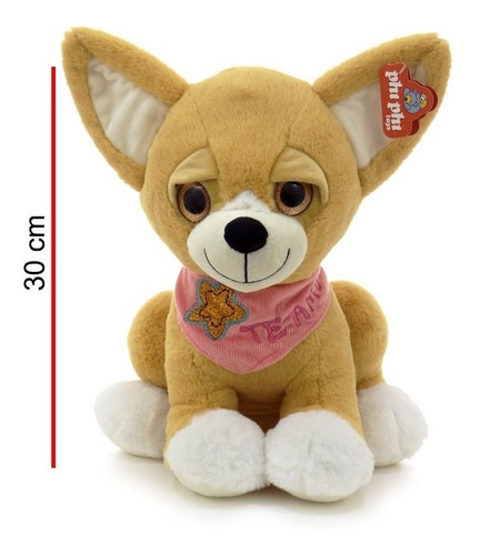 peluche perro chihuahua bufanda frase te amo 30cm 5374 edu