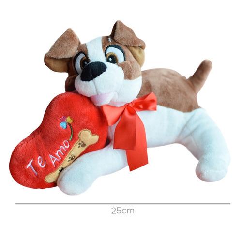 peluche perro con corazon 25cm (1081)