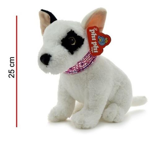 peluche perro de raza animal 25 cm phi phi toys
