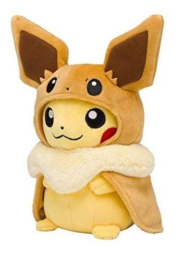 peluche pikachu con capa de eevee