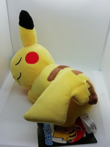 peluche pikachu dormido pokemon center