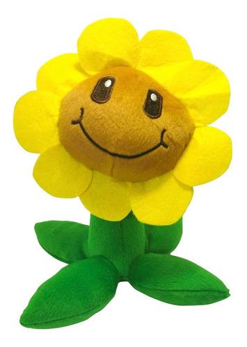 peluche plantas vs zombies girasol sunflower juguete 26cm