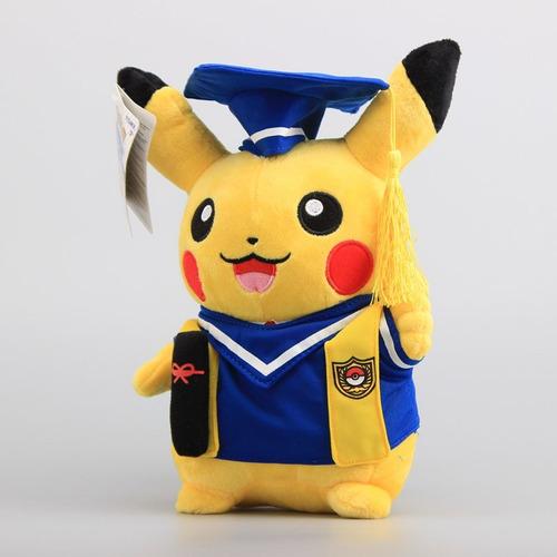peluche pokemon pikachu graduado toga 27 graduacion