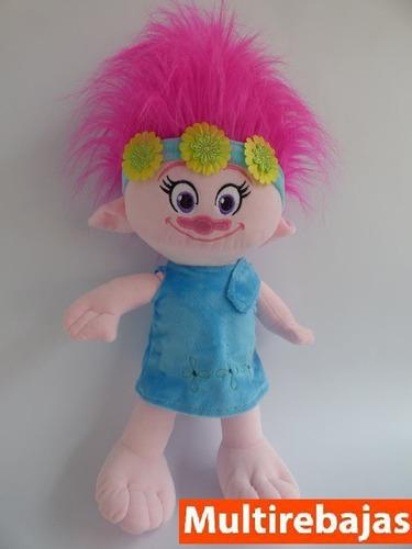 peluche poppy 57cm, peluche nena de los trolls