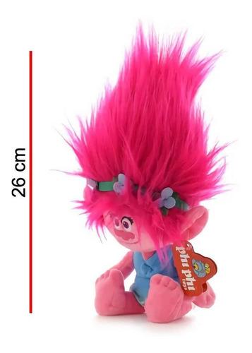 peluche princesa poppy de trolls 26cm alto real phi phi