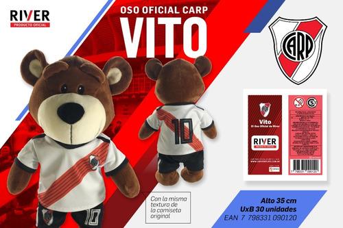 peluche river oso vito original. entrega hoy !!!