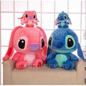 Peluche Stitch O Angel 35 Cm Lilo Disney Medida Ideal