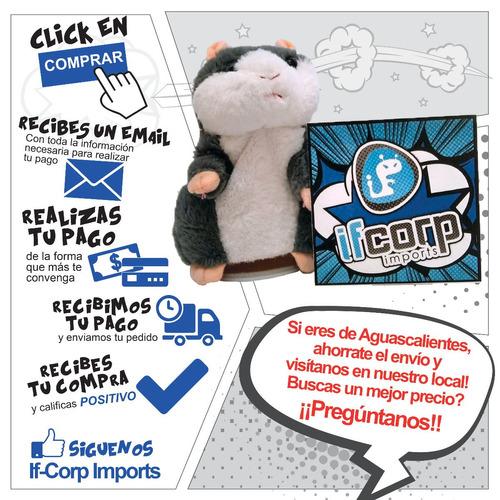 peluche talking hamster hablador interactivo