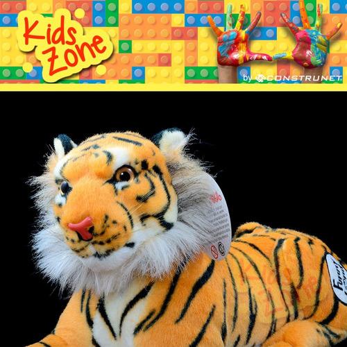 peluche tigre 45cm premium blanco o marron funny land cresko